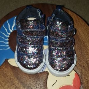 Hi top toddler glitter shoes